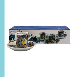 Mokka tas + ondertas Josien Broeren set 6 – 3 designs